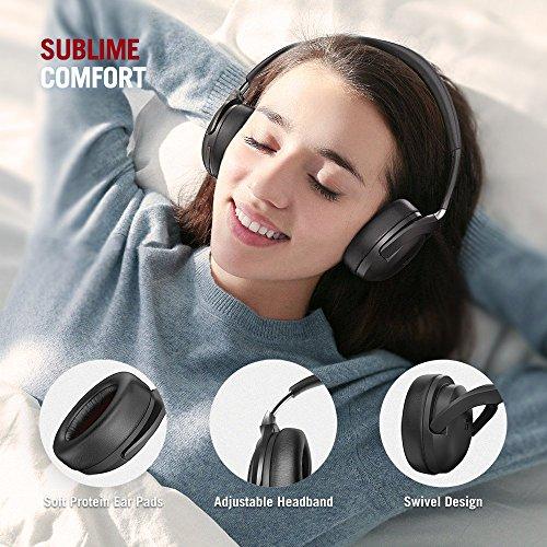 TaoTronics Active Noise Cancelling Kopfhörer aptX Bluetooth Kopfhörer ANC 22 Stunden Wiedergabezeit, aptX Audio in CD-Qualität, Geräuschunterdrückende kabellose Kopfhörer mit CVC 6.0 Mikro - 4