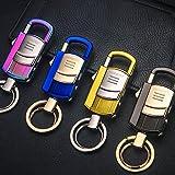 LED Licht mit Feuerzeug, KFZ multifunktional Schlüssel Kette Schlüssel Ring mit Geschenk Anhänger, Black Ice Test