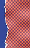 Orange and Blue Journal: (5.5 x 8.5 Small)(Lined) Blank School Colors Notebook College High School Student Organizer Planner Alumni Booster Club ... Diary Unique Plaid Cover Torn Paper Binding