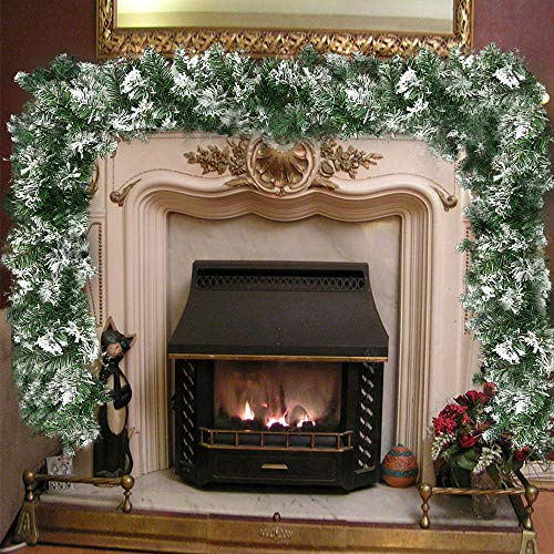 Surfmalleu Guirnalda Navidad Nieve Artificial Premium