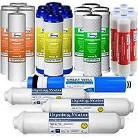 iSpring F28K75 - Juego de filtros de repuesto para sistemas de filtración de agua de ósmosis inversa de 6 etapas