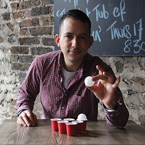 Shot Pong Trinkspiel mit 12 Bechern und 2 Bällen - Saufspiel Partyspiel Shots (Passt Trinkspiel)