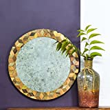 Casa Decor Rapunzel`s Mirror Wall Hanging Wooden Wall Decor Round Shape For Living Room, Bedroom, Kids Room