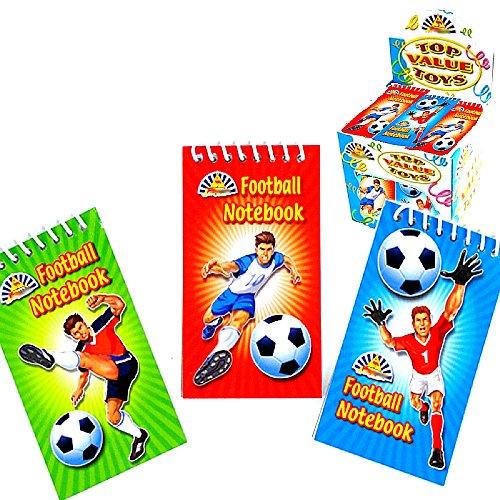 German Trendseller® - 4 x Notiz-blöcke Fußball ┃ Kinder lieben diese Fußball - Notizblöcke