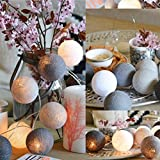 Water Drop String Lights, Wanshop® 20 Cotton Ball String Lights Fairy Hanging Wedding Bedroom Living Room Patio For Garden, Party, Wedding, Christmas, Trees, Bedroom, Curtains (2M, E)