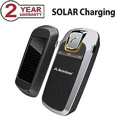 [2 Jahre Garantie] Avantree Solar Kfz Freisprecheinrichtung Bluetooth Auto Freisprechanlage Visier Car Kit für Freisprech Anrufe, GPS und Musik, Wireless Sonnenblende Speakerphone für iphone Samsung