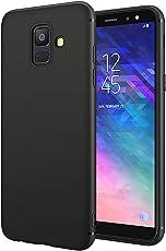 EIISSION Samsung Galaxy A6 Hülle, A6 2018 Handyhülle Schwarz Schutzhülle Kratzfest Silikon Schlank Weich Dünn TPU Case Cover für Samsung Galaxy A6 2018,Schwarz