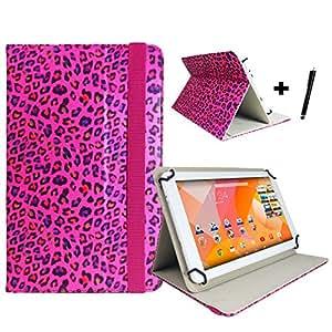 """TechniSat techniPad 7 g étui de protection pour tablette 7 """"avec fonction support motif léopard rose"""