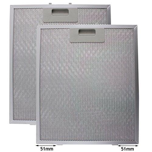 fettfilter metall universal Spares2go Universal Dunstabzugshaube Metall Fettfilter (Silver, 320 x 260mm) (2 stück)
