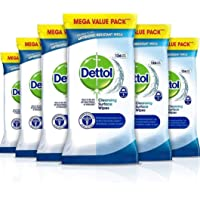 Dettol Wipes Antibacterial Bulk Surface Cleaning, Multipack of 6 x 126, Total 756 Wipes