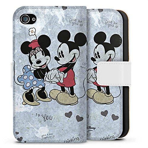 Apple iPhone X Silikon Hülle Case Schutzhülle Disney love Merchandise Geschenke Sideflip Tasche weiß