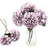 CattleyaHQ 4 Cabezas de Flores Artificiales de Hortensia, Elegante Ramo de hortensias, decoración de Flores Falsas para Fiest