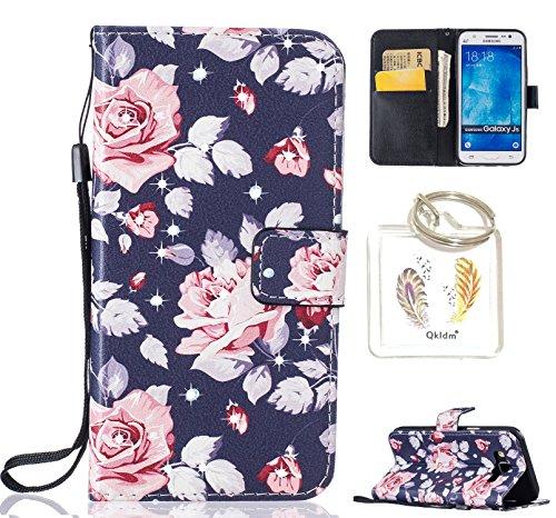Preisvergleich Produktbild für GalaxyJ5 PU Leder Silikon Schutzhülle Diamant Handy case Book Style Portemonnaie Design für Samsung Galaxy J5 + Schlüsselanhänger ( FCX (2)