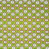 Jerseystoff Baumwolle Meterware - Apfel Motive Kinder Print