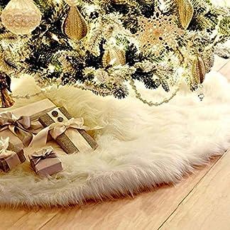 Alicer-Weihnachtsbaumdecke-Weihnachtsdeko-Weihnachtsbaum-Rock-Wei-Plsch-Weihnachtsbaum-Decke-Weihnachtsbaum-Deko