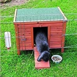 BUNNY BUSINESS ocultar cámara/Run/Guinea Pig Conejo Hutch, extra grande, 60× 47× 50cm