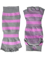 PhysioWorld Half Toe Socks - Pink/Grey - Medium