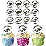 Coche de policía 30personalizado comestible cupcake toppers/adornos de tarta de cumpleaños–fácil troquelada círculos