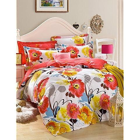 XP HOME funda de edredón conjunto de 3 piezas de tela de algodón puro de matrimonio , queen
