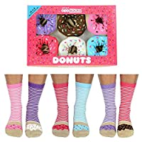 Donuts - United Oddsocks Ladies Odd Socks - Multicoloured - 4-8 uk