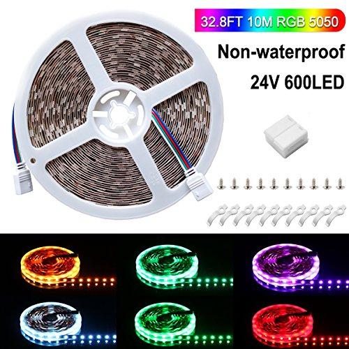 Ruban LED, Sparke 10M 5050 RGB Multicolore SMD 600 LED Bande Flexible Lumineux Strip Light pour Décoration Intérieure, Eclairage Design et Moderne Salon, TV, Bar, meubles