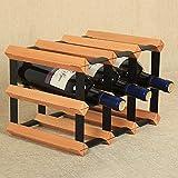 Neues Produkt Doppelte Schicht Eisen und Holz kombiniert mit Holz Weinregale können 6 Flaschen Wein gesetzt werden Laminierte Haushalt Weinkeller praktische Produkte