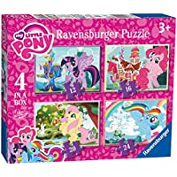 Ravensburger 6896 My Little Pony 4 in a box Jigsaw Puzzles - 12, 16, 20 and 24 Pieces