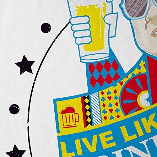 style3 Live like a King! Drink Beer! Herren T-Shirt Lebe wie ein König! Trinke Bier! Chow hangover Las Vegas Weiß