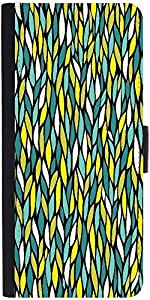 Snoogg A Seamless Leaf Pattern Designer Protective Phone Flip Case Cover For Samsung Galaxy J2