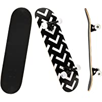 YUDOXN Skateboard Completo per Principianti. 79x20cm skateboard Double Kick Deck Concavo con 7 strati di legno d'acero…