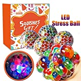 #2: Magicwand® Anti-Stress Mesh Squishy Ball with Led Lights for Releiving Stress, Anxiety (Pack of 2)