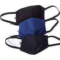 Cover Mascherina Mask-M filtranti 3 Strati in Cotone 100% con Tasca Filtro in TNT ricambiabile. Confez. 3 Pezzi