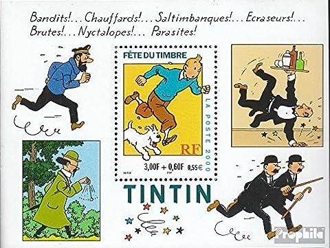 France Bloc 22 (complète.Edition.) 2000 personnage de bd tintin (Timbres pour les collectionneurs)