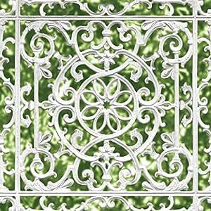 UGEPa Papier peint Motif grille en fer forgé, multicolore, J99804