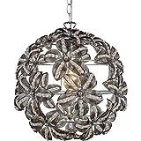 Vorzügliche 1-flg Pendel Hänge Lampe Chrom Acryl Lobby Lokal Globo KAUNOS 51421H