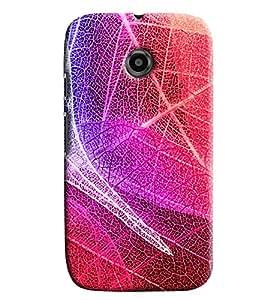 Blue Throat Colored Nest Effect Printed Designer Back Cover/ Case For Motorola Moto E2
