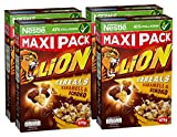 Nestlé Lion Cereals | Schoko Müsli mit Karamell | 38% vitales Vollkorn | Mit Vitaminen und Mineralstoffen | Crunchy Knusper Flakes | Maxi Vorratspackung  | 4er Pack (4 x 675 g)