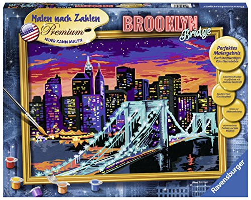 Ravensburger 28897 - Brooklyn Bridge - Malen nach Zahlen Trend, 40 x 30 cm