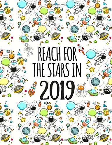 Reach for the Stars in 2019: Weekly and Monthly Diary & Planner for Boys (Unicorn Magic Series)