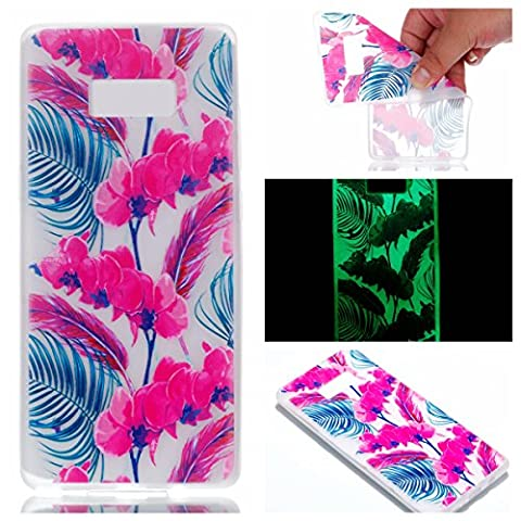 Coque Samsung Galaxy Note 8, BONROY® Samsung Galaxy Note 8 Housse Luminous Effect Noctilucent Green Glow in the Dark Ultra Mince Souple Gel TPU Bumper Poussiere Resistance Anti-Scratch Coque Housse Pour Samsung Galaxy Note 8 - Lanternes