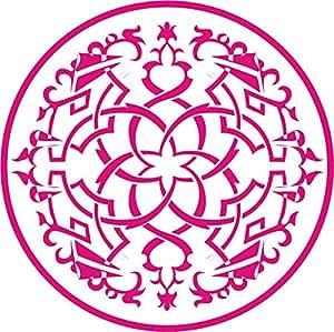 INDIGOS 4051095024743 sticker mural w248 orient, cercle, 96 x 96 cm (rose)