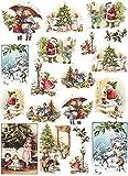 Zita's Creative Reispapier A4 - Vintage Christmas. Motiv-Strohseide, Strohseidenpapier, Decoupage Papier