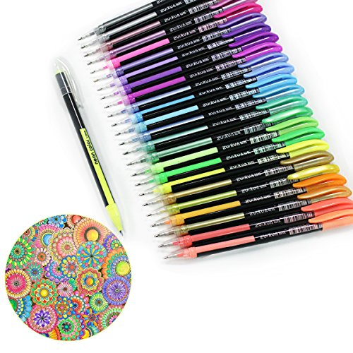 confronta il prezzo Ciaoed Set di 48 Penne Gel Glitter Multicolore Colorate Penne Roller per Colorazione, Pittura, Disegno, Scarabocchiare e Abbozzare miglior prezzo