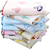 Uber World Cotton Unisex Double Layered Handkerchiefs (Large, Multicolor, 6 Piece)