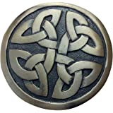 Mens Celtic Round Kilt Belt Buckle Antique Finish/Round Shape Celtic Kilt Belt Buckles Knotwork