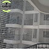 Armor Anti-Bird Net 10Ftx6Ft (60 Sq Ft) Nylon Bird Net(White)With 30Pcs Plastic Cable Clips & Tying Ropes