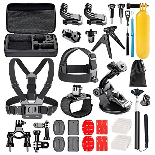 Followsun 38-in-1 Action Kamera Zubehör Kit für GoPro GoPro Hero/Session/6 5 4 3+ 3 2 1 AKASO EK7000 Campark ACT74 ACT76 APEMAN A8O A70 ENEK Crosstour Sjcam DBPOWER Yi VicTsing QUMOX WiMiUS