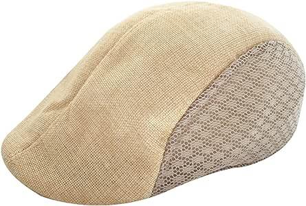 Yunhigh Irish Flat Cap Men Ivy Cabbie Newsboy Duckbill Driving Peaked Gatsby Paperboy Hat Beret