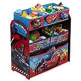 Spielzeugregal - Standregal - Aufbewahrungsregal 6 Boxen mit Motivauswahl (Cars Nitroade)