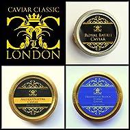 Popular Trio of Caviar 3 x 30 gram ( Freshwater Beluga/Oscietra/Royal Baerii). FREE Express del.